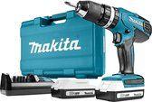 bol.com | Makita 18 V klopboor-/schroefmachine - HP457DWE - inclusief 2 batterijen en lader T Bo, Makita, Nerf, Drill, Ebay, Products, Drill Bit, Steel, Hole Punch