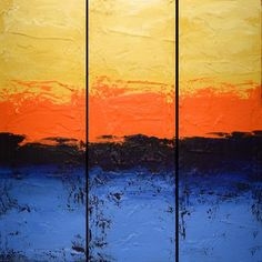 EXTRA LARGE WALL art triptych 3 panel wall art blue yellow red orange paintings on canvas original abstract kunst Peintingu blue 48 x Triptych Wall Art, Canvas Wall Art, Hand Painting Art, Painting Frames, Painting Canvas, Orange Painting, Internet Art, Original Paintings For Sale, Extra Large Wall Art