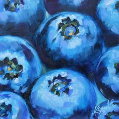 blueberries by Kim Myers Smith Art Journal Inspiration, Painting Inspiration, Art Inspo, Cute Paintings, Original Paintings, Acrilic Paintings, Fruit Painting, Still Life Art, Pastel Drawing