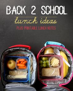 Back 2 School Lunch Ideas + FREE Printable Lunch Notes and Jokes