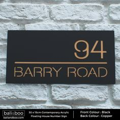 Rectangular House Plaque in Matt Black & Copper. House Name Signs, House Names, Home Signs, Number Signs For House, House Numbers Modern, Contemporary House Numbers, House Number Plates, Name Plates For Home, Address Plaque