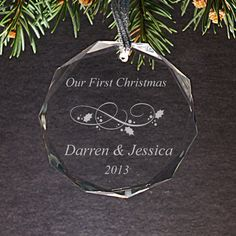 Custom Personalized Christmas Ornament  by CutesyPieBoutique