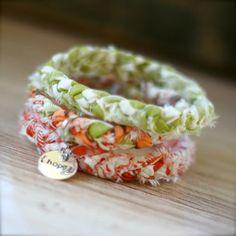 fabric scraps bracelet