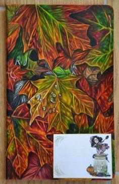 Creativity of Fià: Cover quaderno: foglie