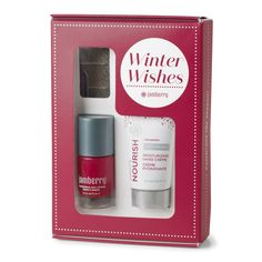"Jamberry's Winter Wishes Holiday Gift Set includes everything you need to get in the holiday spirit, including festive nail wraps, exclusive Cranberry-scented Nourish, and ""Ruby"" lacquer. This enchanting set is a must-have for any beauty lover. So bundle up and make a bold statement this holiday season!"