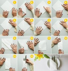 Bestecktaschen Falten kreativ servietten falten die bestecktasche napkins origami and