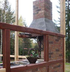 Kesäkeittiökokonaisuus 2 Brick Bbq, Backyard, Patio, Gazebo, Innovation, Relax, Outdoor Structures, Garden, Kitchen