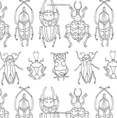 Colouring Pages, Coloring Books, Atelier D Art, Bug Art, Art Brut, Insect Art, Middle School Art, Bugs And Insects, Art Plastique