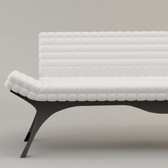 Panorama Sofa white cushion, black base | #sofa #white