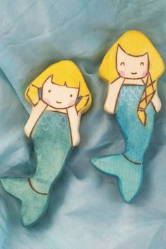 Mermaids Waldorf-inspired all-natural wooden toys by TansyDolls
