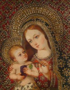 Madonna and child - Featured pieces from Diana Mendoza, Sorelle Gallery, Albany, NY Mother Of Christ, Blessed Mother Mary, Blessed Virgin Mary, Religious Pictures, Religious Icons, Religious Art, Catholic Religion, Catholic Art, Images Of Mary