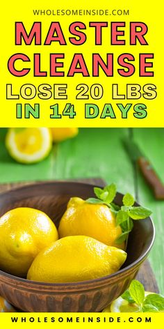 Are you looking for a simple diet plan that can help you lose 20 lbs in just 2 weeks of time? You're going to love the lemon detox diet! Flat Tummy Fast, Flat Tummy Tips, Flat Belly Diet, Master Cleanse, Lemon Detox, Easy Diet Plan, Lose 20 Lbs, Lose Body Fat, Weight Loss Plans