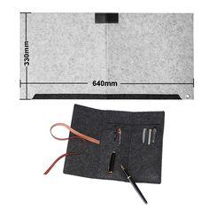 デスクパッド デスクマット フエルト防音保温多機能収納袋デスクパッド文具袋付き