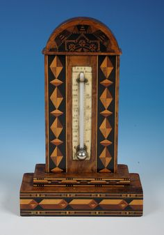 The perfect piece for our fabulous summer, a Tunbridge Ware thermometer stand with geometric mosaic by Edmund Nye. Offered by Amherst Antiques at The Edenbridge Galleries, Kent. www.edenbridgegalleries.com