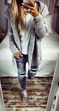 love this chic grey toned outfit