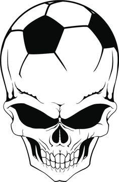 """Soccer Skull Vehicle Window Vinyl Decal Sticker 5"""" X 8"""" #GeoRichDecals"""