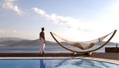 White Pearl Luxury Villa in Elounda Crete with Infinity Pool and Jakuzzi. Plan your Unforgetable Vacation in White Pearl Villa. Elounda Crete, Luxury Villa, Outdoor Furniture, Outdoor Decor, Pearl White, Villas, Hammock, Sea, Vacation