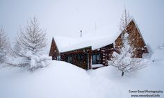 A warm house in the snow
