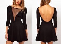 Sexy round neck halter dress SF110608JL