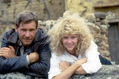 A gallery of Indiana Jones and the Temple of Doom publicity stills and other photos. Featuring Harrison Ford, Kate Capshaw, Jonathan Ke Quan, Steven Spielberg and others. Harrison Ford Young, Harrison Ford Movies, Kate Capshaw, Indiana Jones Films, Henry Jones, Image Film, Jason Isaacs, Star Wars, Steven Spielberg