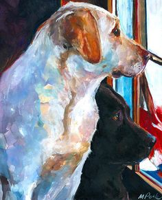 ღღ By My Side Painting by Molly Poole - By My Side Fine Art Prints and Posters for Sale Watercolor Animals, Watercolor Paintings, Watercolors, Canvas Art, Canvas Prints, Painting Canvas, Dog Portraits, Illustrations, Animal Paintings