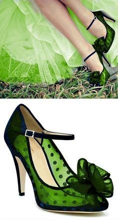 Women's Fashion High Heels : Green – love these shoes Pretty Shoes, Beautiful Shoes, Cute Shoes, Me Too Shoes, Awesome Shoes, Shoe Boots, Shoes Heels, Flat Shoes, Zapatillas Casual
