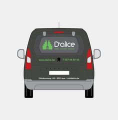 D'alice - Huisstijl realisatie - Communicatie en reclamebureau 2design Roeselare - Grafisch ontwerp, webdesign en apps - Huisstijl - belettering auto