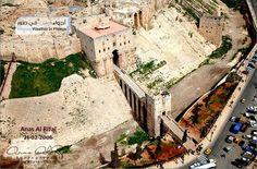 aerial view of #Aleppo citadel entrance omg!