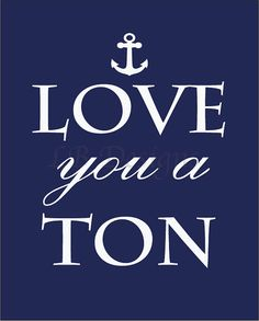 Navy Blue and White Nautical/Whale Nursery Quote by LJBrodock, $10.00