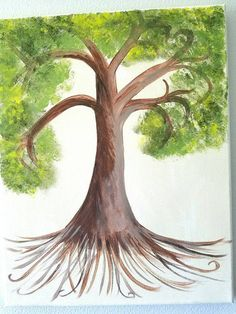 Check out this item in my Etsy shop https://www.etsy.com/listing/464040915/acrylic-tree-painting-family-tree