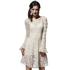 YIGELILA Hot Sale Fashion Hollow Out White Long Sleeve Em... http://www.amazon.com/dp/B01DSVWWEY/ref=cm_sw_r_pi_dp_XbVjxb1X6B9ZG
