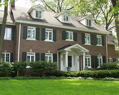 Windows,Traditional Colonial Homes Exterior Design- grand portico