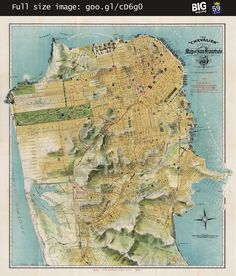 Chevalier #map of San Francisco (1912) #SanFrancisco —   http://www.bigmapblog.com/2011/chevalier-map-of-san-francisco-1912/