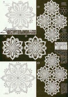 Crochet lace tablecloth square