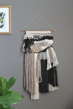 Woven wall hanging / Woven Tapestry / Fiber by HopeandHudsonHome