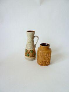 Keramikvase helles braun/beige / Scheurich /vin... von GretaunddasRotkaeppchen auf DaWanda.com