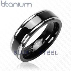 PIN IT TO WIN IT! Martini: The Martini ring is a Solid Titanium Black Band with Double Stripe Ring for an added dash of refined style. A Titanium Black Band of Solid Titanium with Double Stripe Ring, creating a two-toned ring that will show that you are definitely more than meets the eye.  $79.99  www.buybluesteel.com