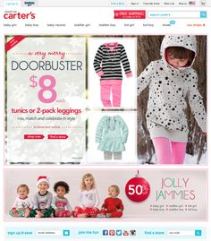 Responsive web design allows eCommerce website to adapt to all screen sizes. Great for a perfect integration with mobile  Example of Carter's responsive website beats all US multichannel competition | Econsultancy