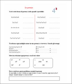didattica matematica scuola primaria: Le potenze - classe quinta Worksheets, Teacher, School, Maths, Google, Geography, Professor, Literacy Centers