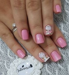 Best Nail Art Designs 2018 Every Girls Will Love These trendy Nails ideas would gain you amazing compliments. Trendy Nails, Cute Nails, My Nails, Pink Nail Art, Cool Nail Art, Best Nail Art Designs, Beautiful Nail Designs, Mandala Nails, Pretty Nail Colors