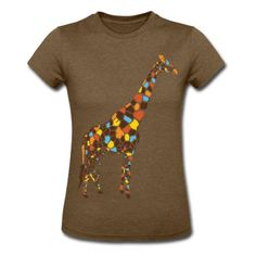 Colorful Giraffe T-Shirt | Spreadshirt | ID: 4608037