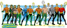Evolution of Aquaman / Aquaman costumes by BoybluesDCU.deviantart.com on @deviantART