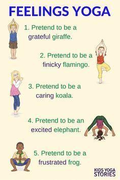 Feelings Yoga for Kids: talk about feelings through movement | Kids Yoga Stories
