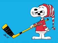 Snoopy, Red Wings and missing teeth! Hahaha, i love me some snoopy....