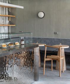 Clinic Interior Design, Bar Interior, Retail Interior, Interior Styling, Restaurant Counter, Restaurant Design, Hospitality Design, Shop Interiors, Modern Kitchen Design