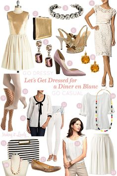 What to Wear to the Diner en Blanc / Winter Wonderland Party - Winter White Party?! @Andrea Sillick!!! @Alison Letzring!!! @The rest of my ladies!!! Let's have a fancy white party! NO!?