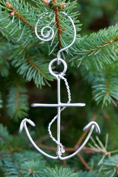 Anchor Christmas Ornament Navy Military. $10.00, via Etsy.