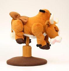 MF Western Toy Kids Bouncing Bull Plush Child Brown 5070202  Price : $85.00 http://www.standupranchers.com/Western-Bouncing-Plush-Child-5070202/dp/B00H4MRGVI