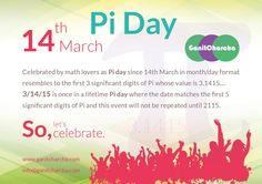Celebrate Pi (3.1415...) Day @ 3/14/15