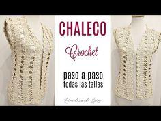 C mo tejer chaleco a crochet f cil paso a paso y en todas las tallas Gilet Crochet, Crochet Cardigan Pattern, Crochet Blouse, Crochet Motif, Crochet Stitches, Knit Crochet, Crochet Patterns, Doilies Crochet, Amigurumi Patterns